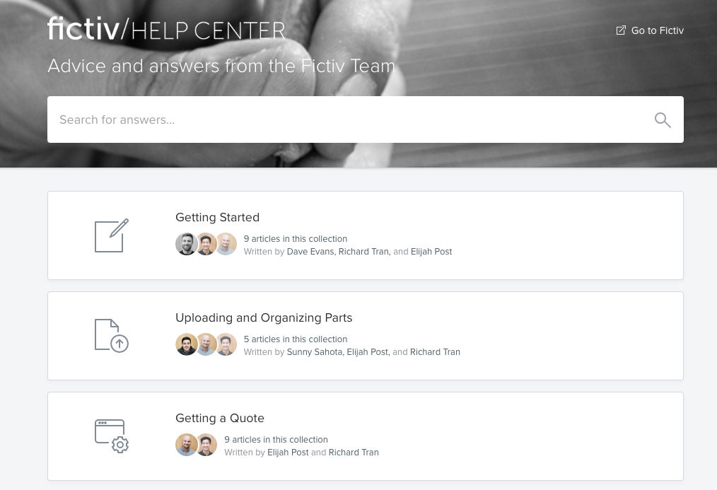 fictiv help center