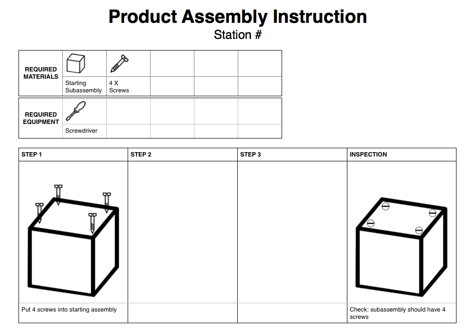 assembly line instructions
