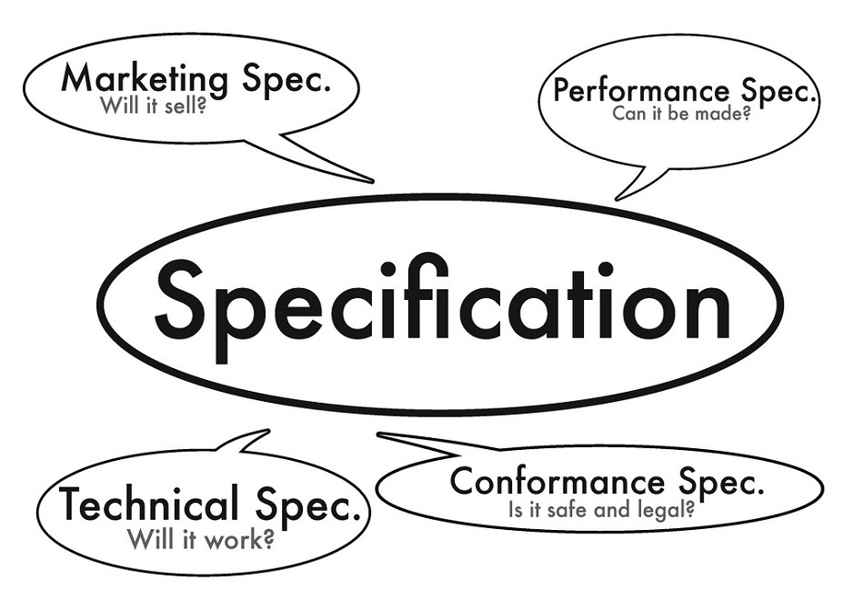 Specification development in product design