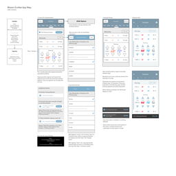 HVAC Schedule Wireframes