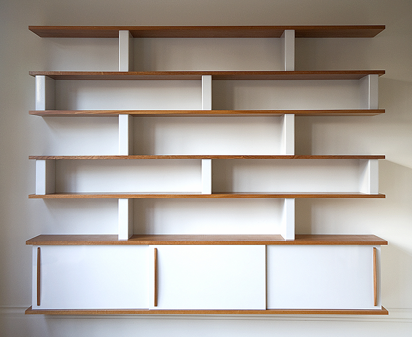Boston Architects BUTZ + KLUG architecture, South End renovation bookshelves detail