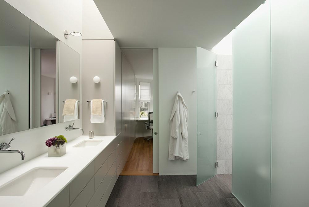 Boston Architects BUTZ + KLUG architecture, South End renovation Interior Bathroom