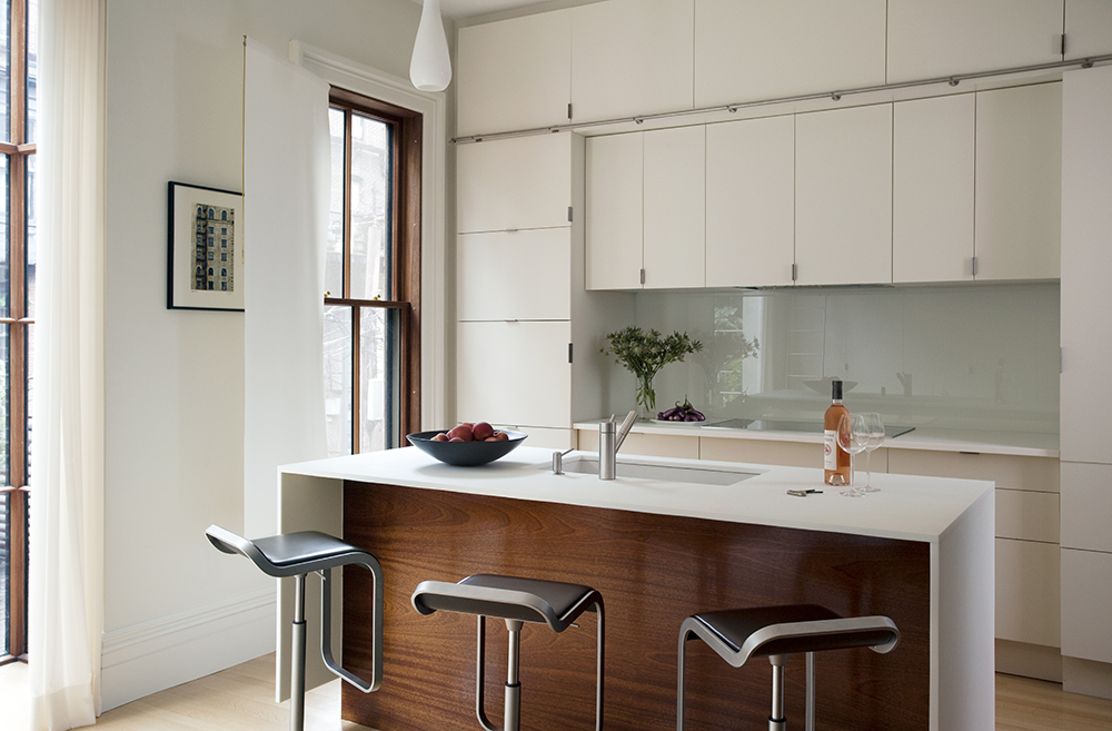 Boston Architects BUTZ + KLUG architecture Contemporary renovation Boston MA South End Kitchen