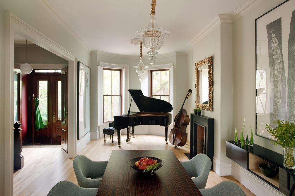 Boston Architects BUTZ + KLUG architecture Contemporary renovation Boston MA South End Parlor