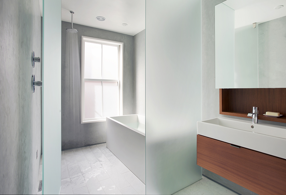 Boston Architects BUTZ + KLUG architecture Contemporary renovation Boston MA South End Bath