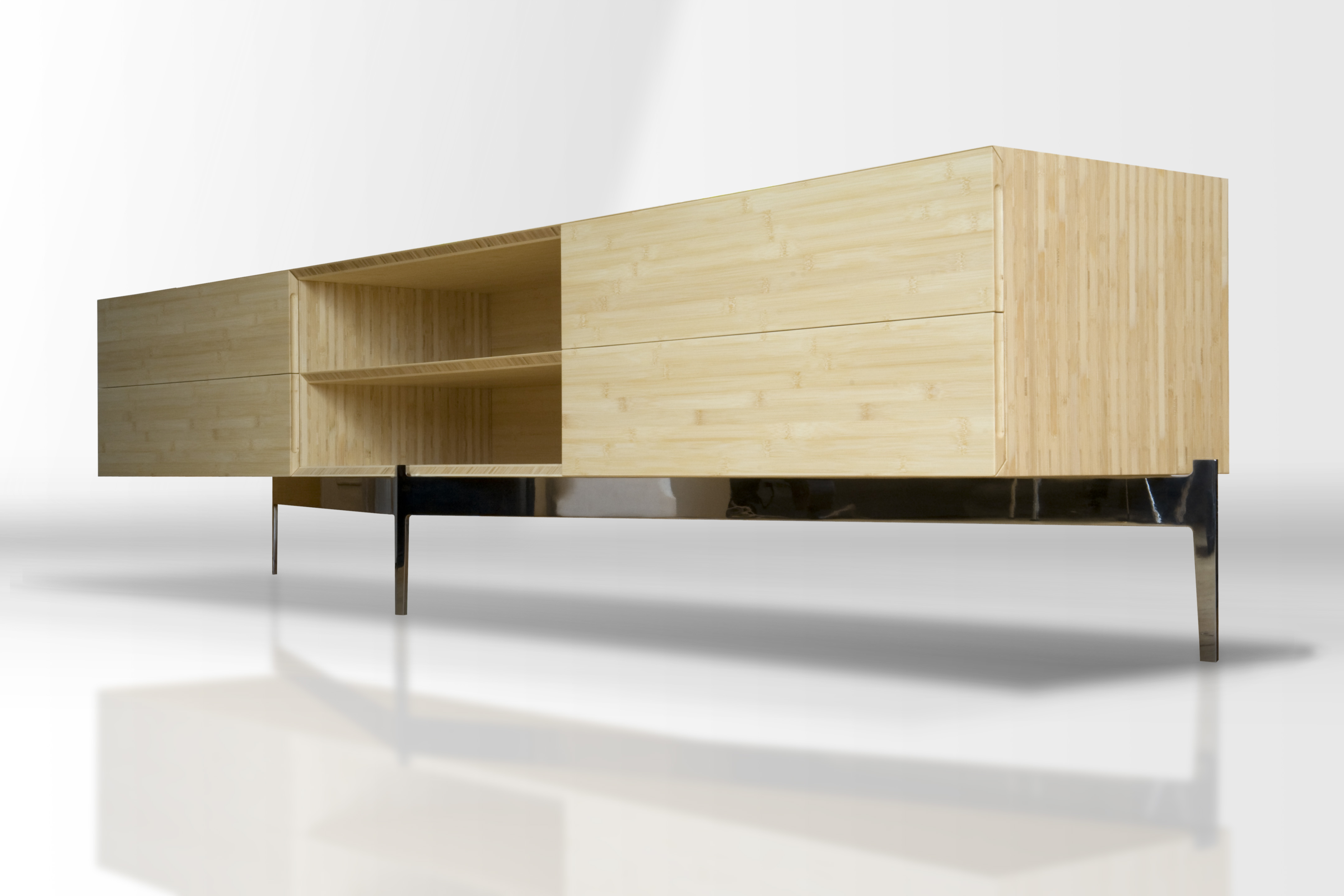 BUTZ + KLUG Architecture, custom furniture, credenza, bamboo