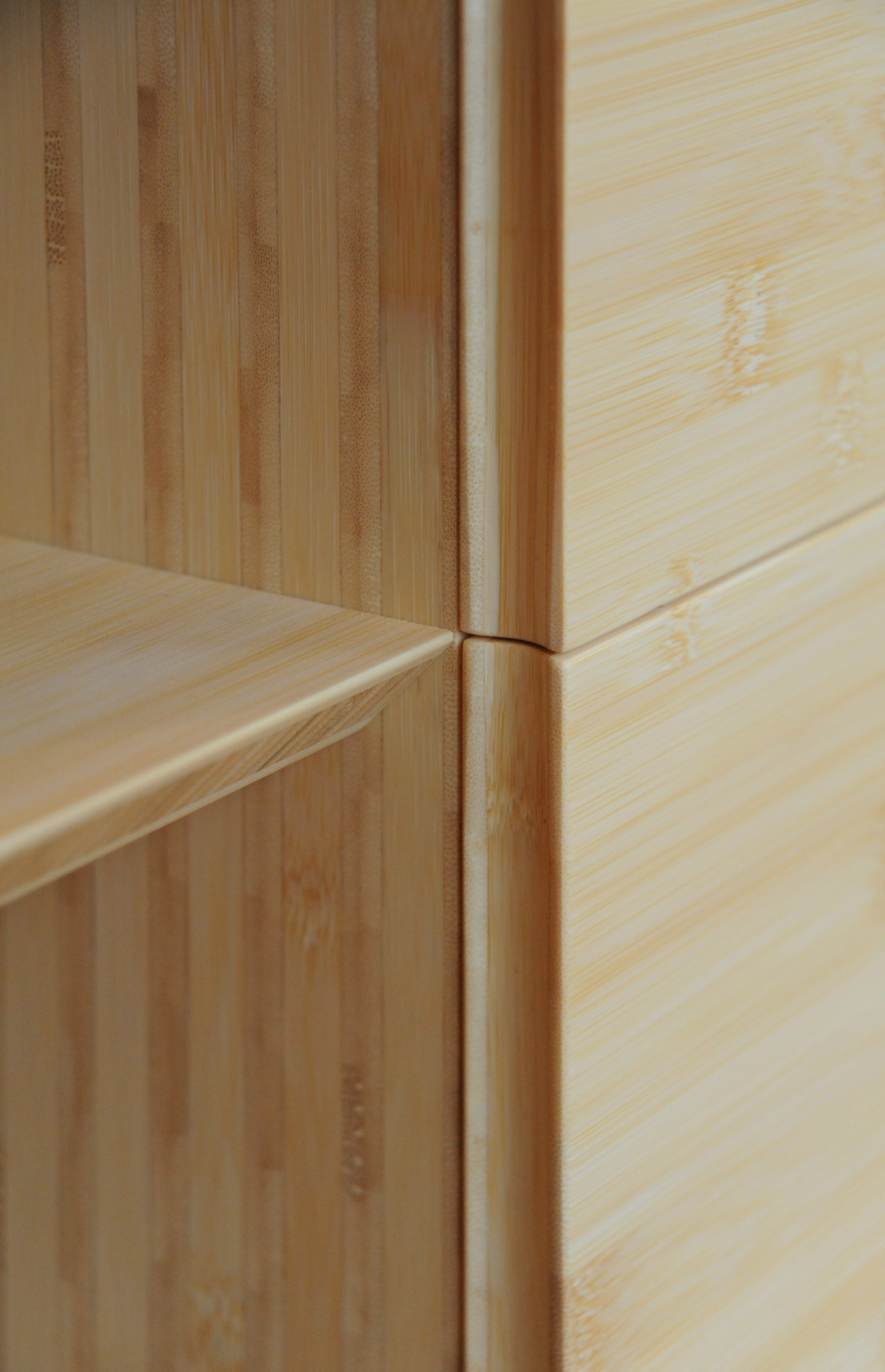 BUTZ + KLUG Architecture, custom furniture, credenza, bamboo, detail