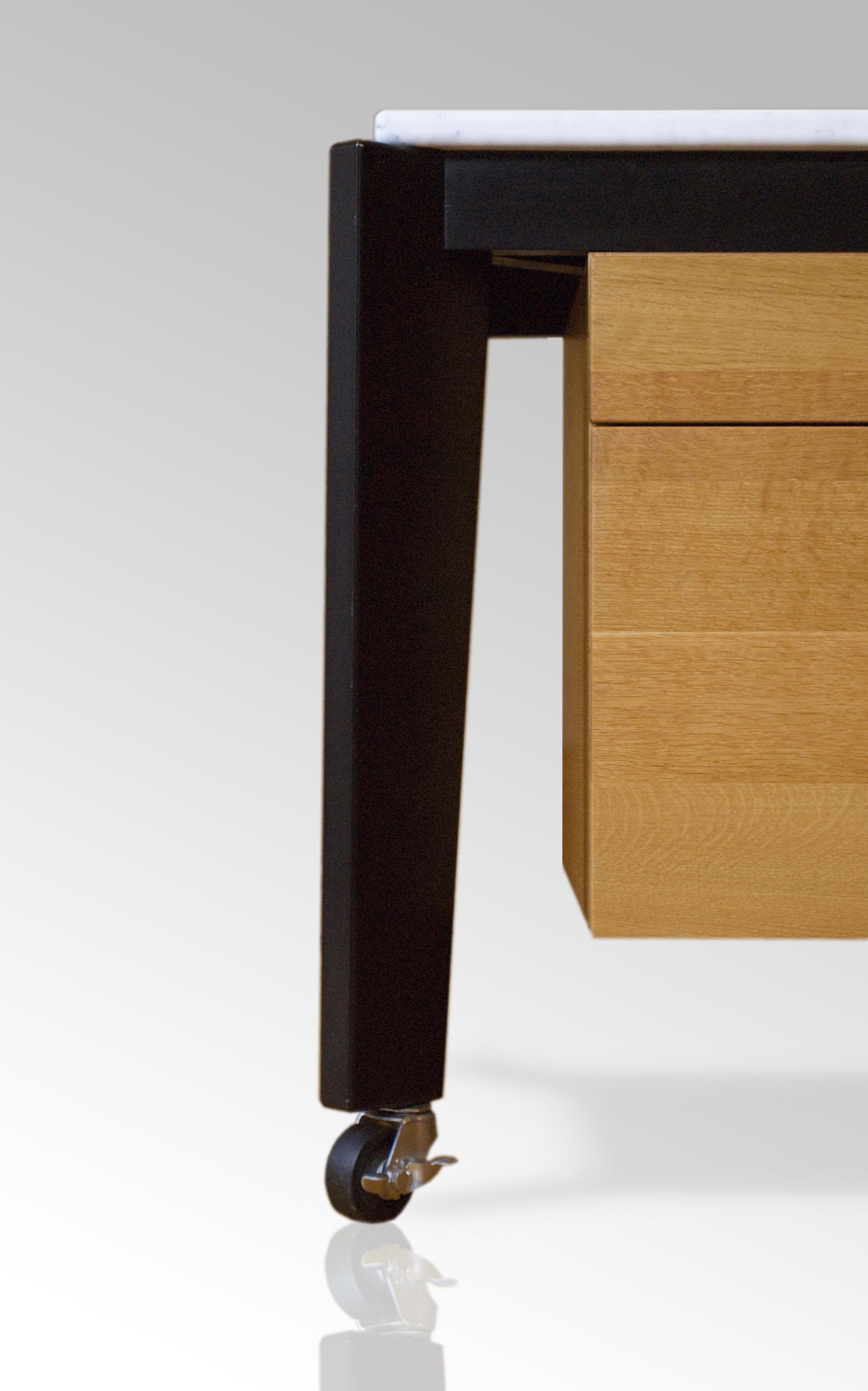 BUTZ + KLUG Architecture, custom furniture, kitchen work table, carrara marble