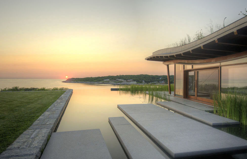 Infinity Edge Pool at Sunrise, Natural Swimming Pool