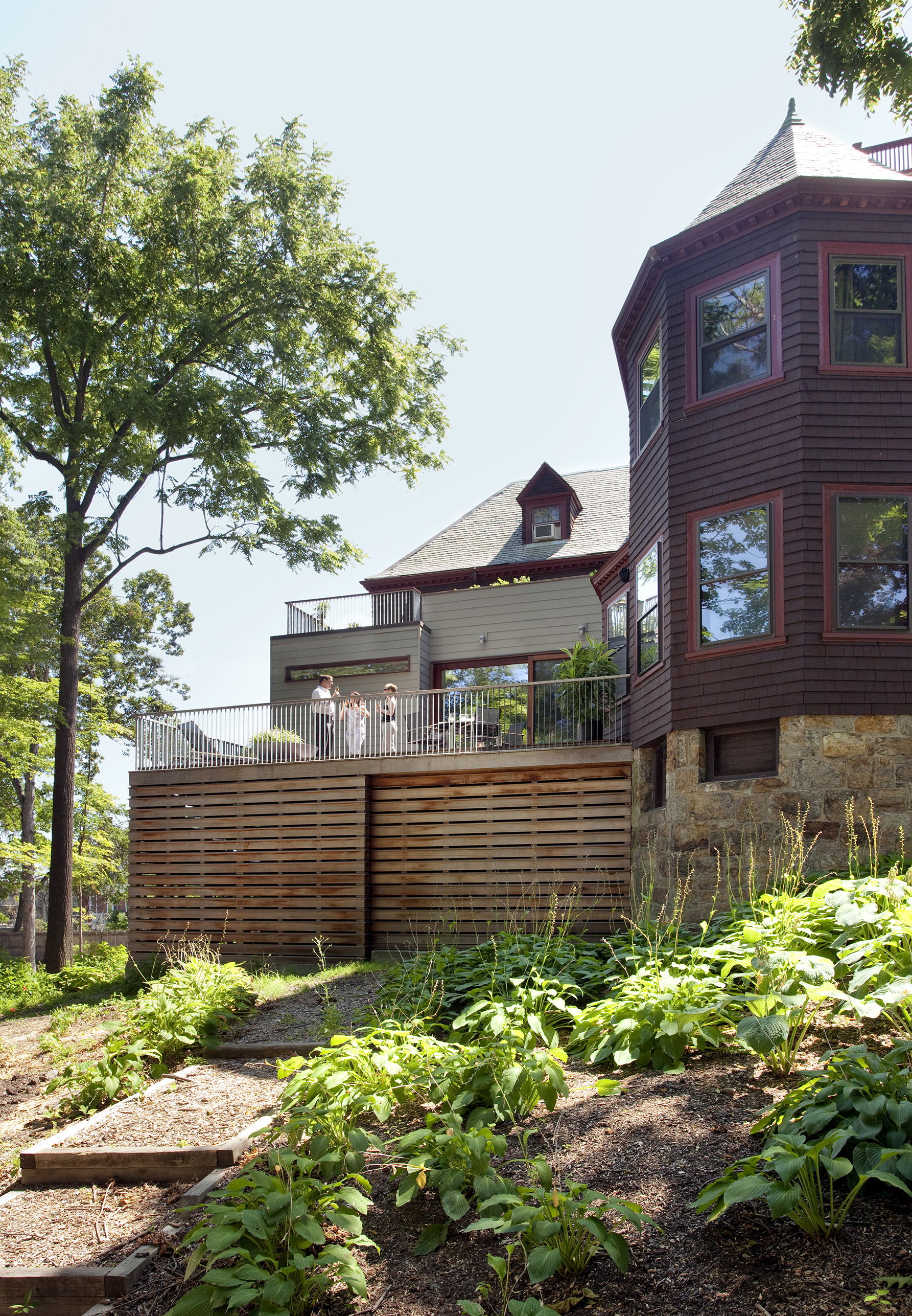 Boston Architects BUTZ + KLUG architecture Contemporary renovation Brookline MA Exterior