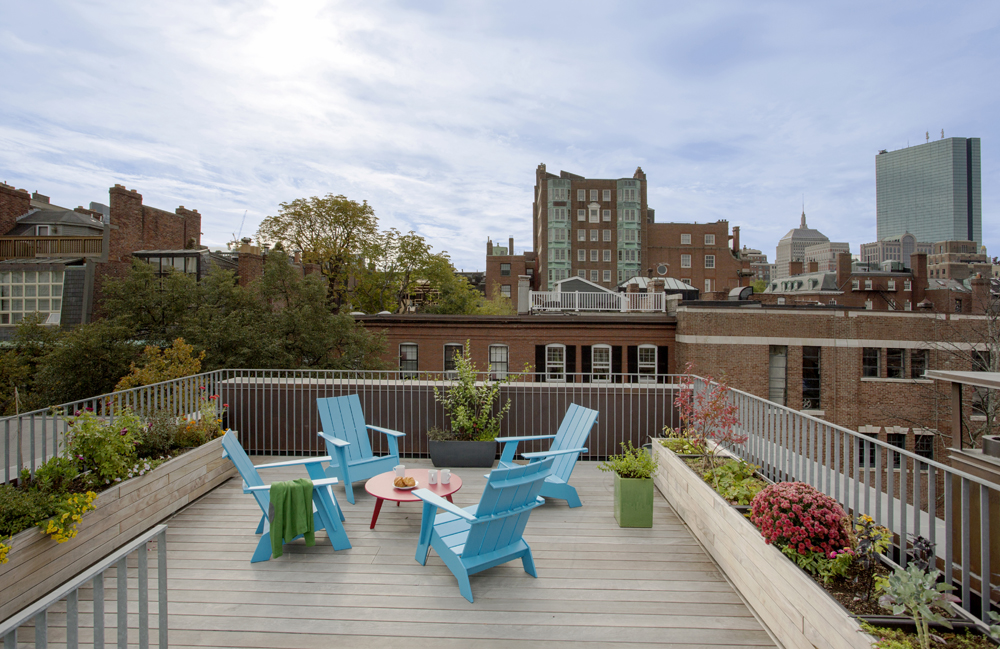 Boston Architects BUTZ + KLUG architecture Beacon Hill Roof Deck