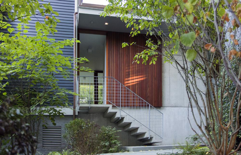 Boston Architects BUTZ + KLUG architecture, Brookline Renovation, concrete stair