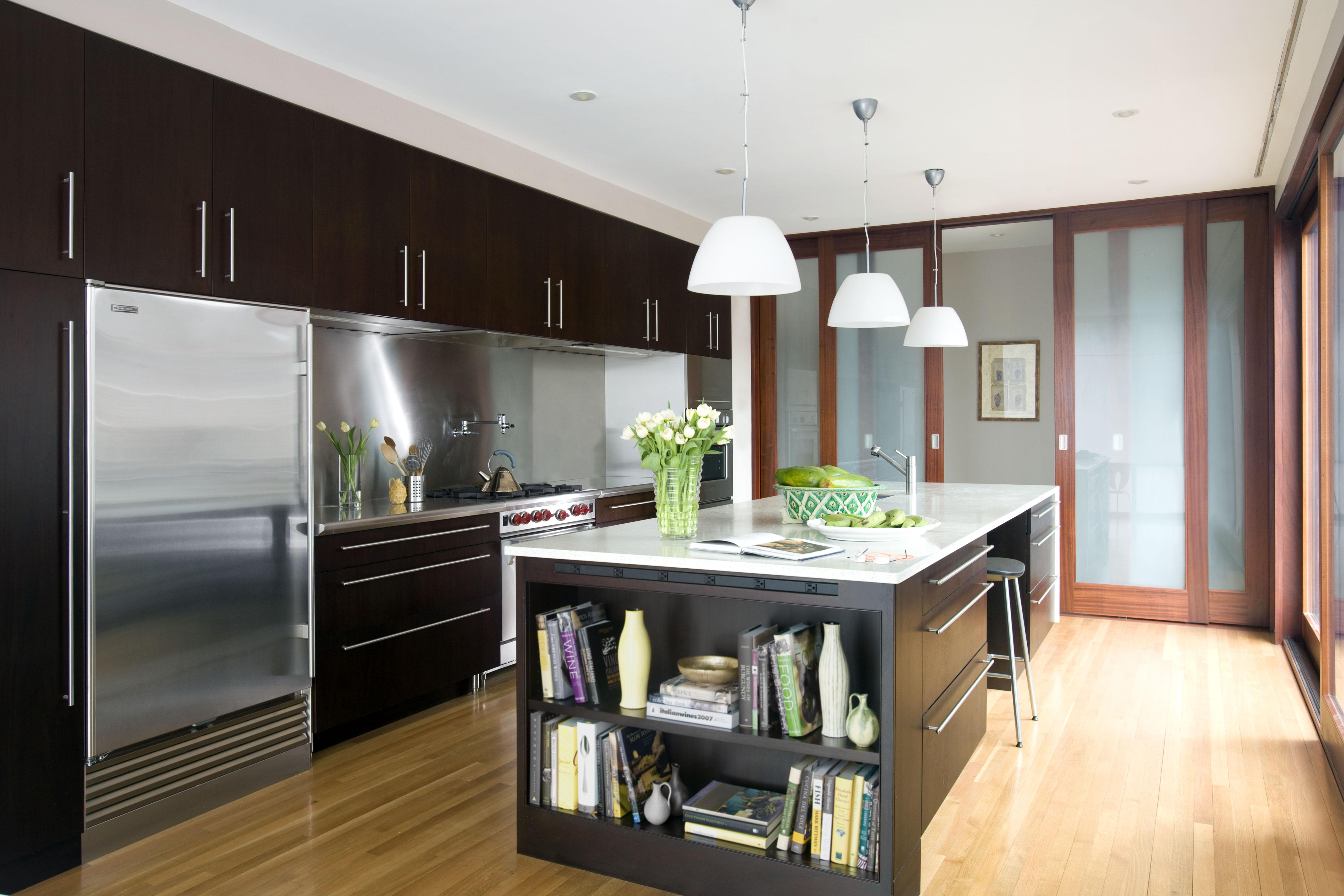 Boston Architects BUTZ + KLUG architecture Contemporary renovation Brookline MA Kitchen