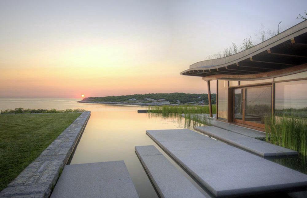 Boston Architects BUTZ + KLUG architecture, Pool House infinity edge pool, North Shore Gloucester MA