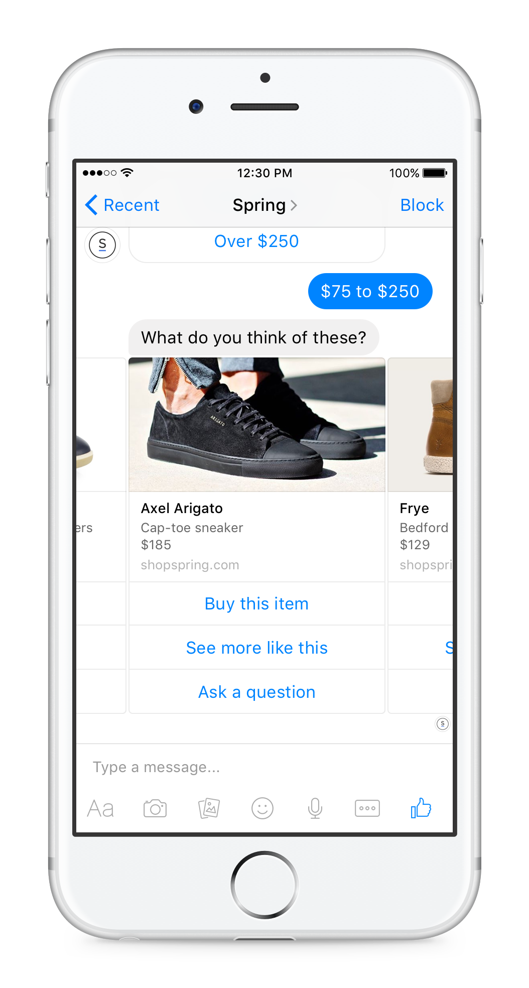 Conversationele UI voor e-commerce