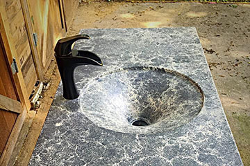 marble stained concrete sink
