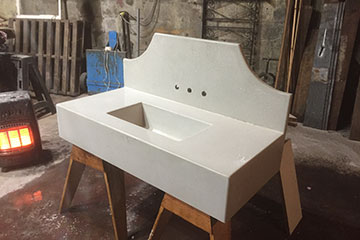 handcrafted artisan sink made from concrete