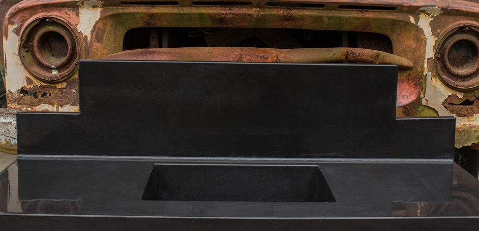 Abrstrakt Concrete's countertop and sink with truck