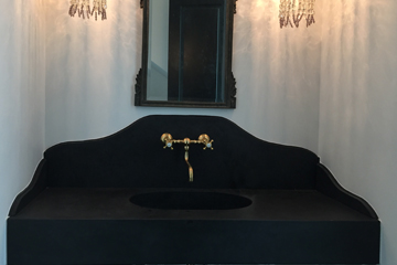 black and gold sink
