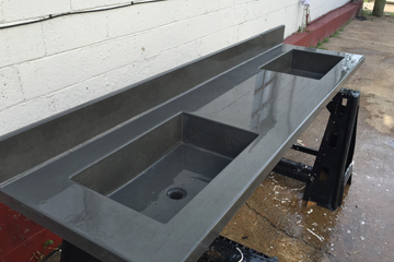 custom long grey sink
