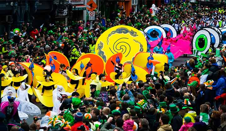 Parade de la St Patrick à Dublin
