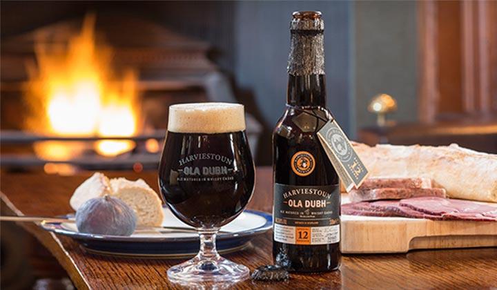 La bière Ola Dubh de chez Harviestoun