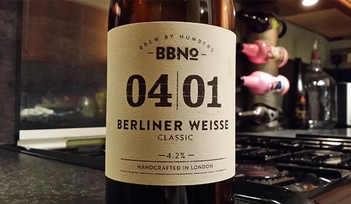 Berliner Weisse par la brasserie Brew By Numbers