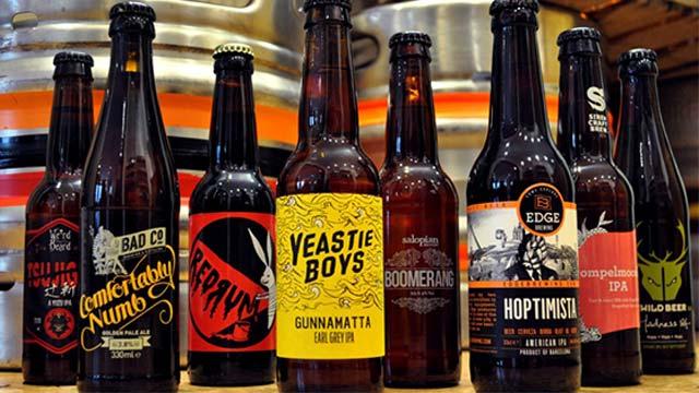 Assortiement de craft beers à offrir à la fête des mères