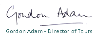 Gordon Adam Signature, director of Drumscot Tours