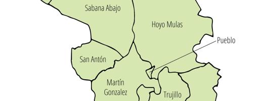 Ilustración del Mapa de Carolina, dividido por barrios.