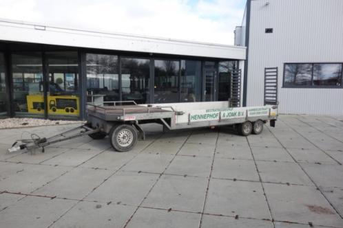 Zeer mooie 3 assige schamelwagen Sterk semi-dieplader 4500kg