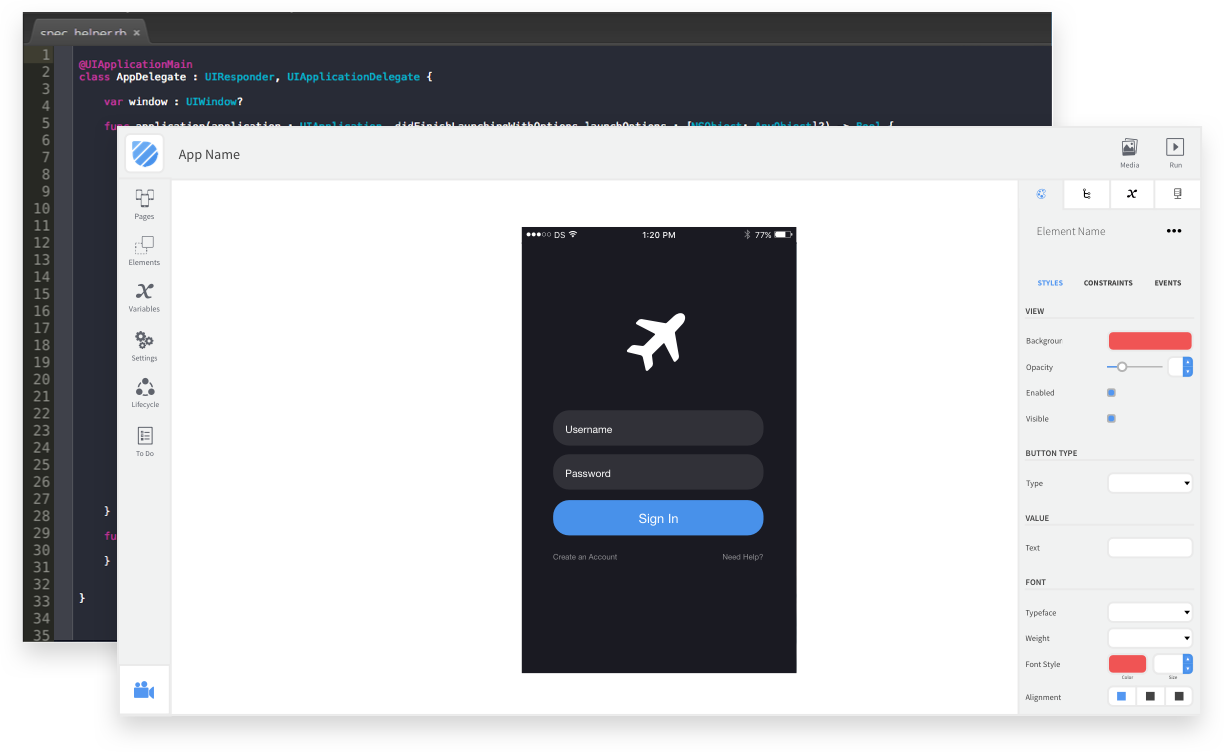 Dropsource workbench and code editor