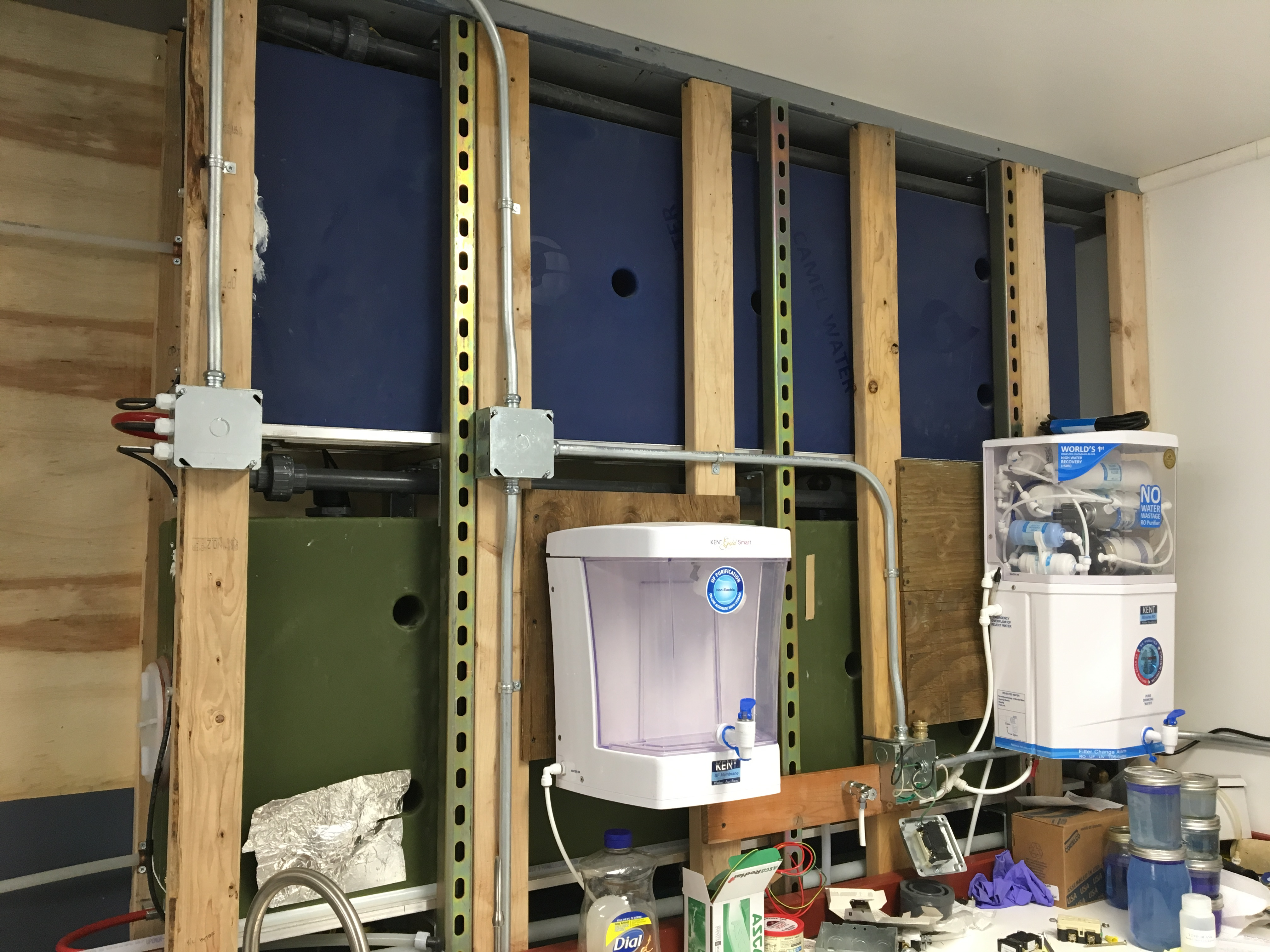 Our Solution Camel Washing Machine Wiring Diagram The Tanks Fit Inside Of Plumbing Wall Blue Tank Is For Treated Water Green Stores Untreated From Rain Lake Or Ice Melt