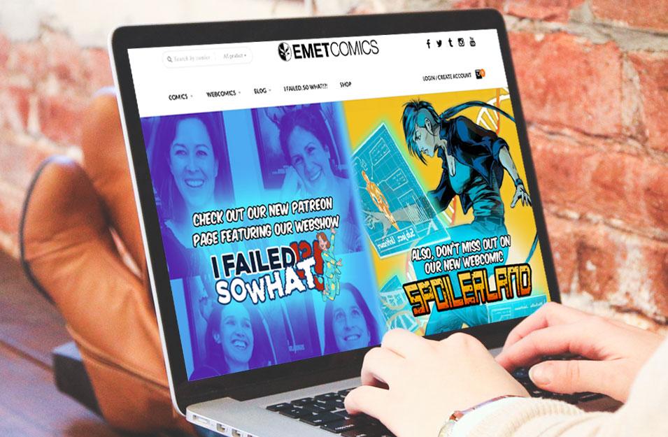 Emet Comics Desktop Design