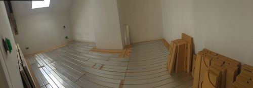 plancher chauffant sec idéal pour la rénovation : Château en cours de rénovation