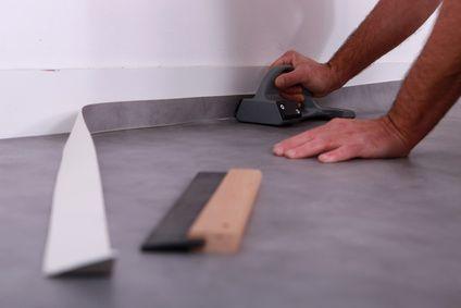 Pose de lino et revêtements mous sur plancher chauffant