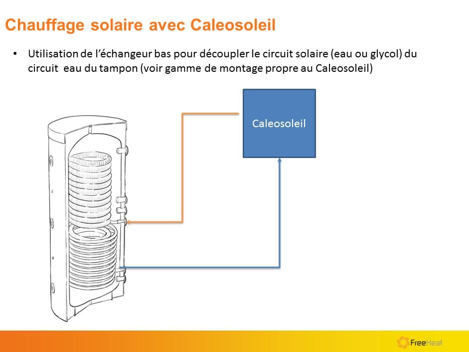 Branchement ballon chauffe-eau solaire 1000 litres échangeur bas pour panneaux solaires ou Caleosoleil