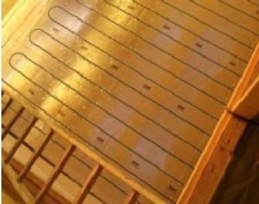 Plancher chauffant sec en Mezzanine