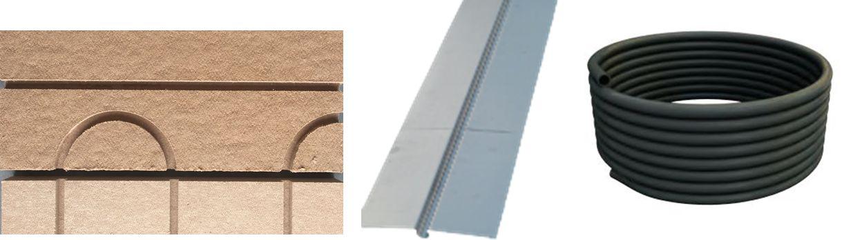 Composants d'un plancher chauffant combles