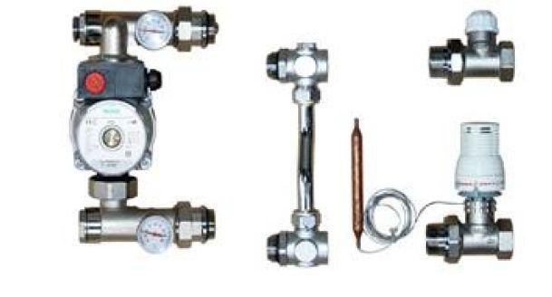 Groupe de réglage - Station de mélange pour mur chauffant  - compatible combimix (r)