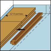 Pose première lambourde pour plancher chauffant