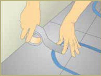 Maintien tuyau plancher chauffant