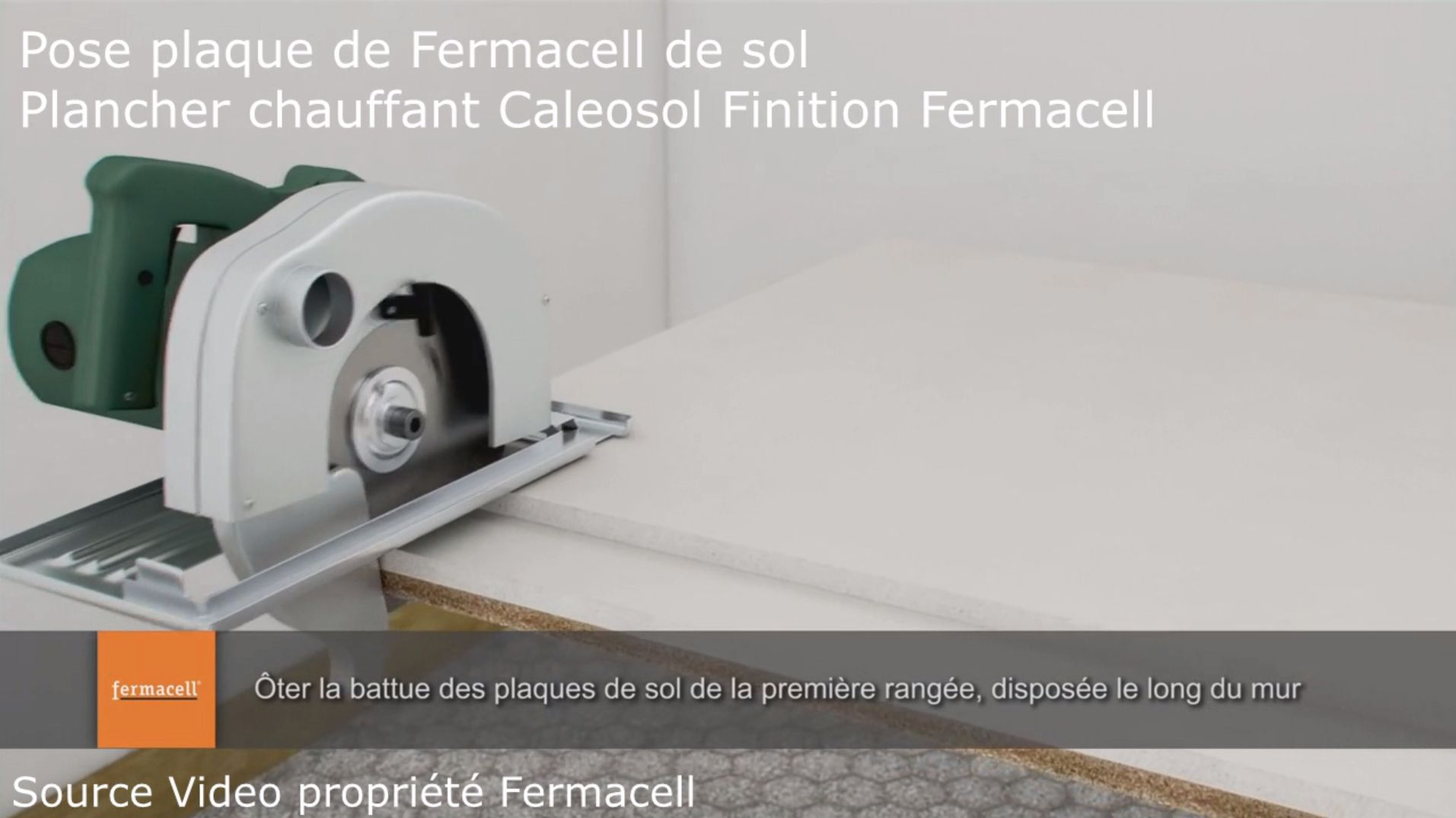 video pose plaque fermacell plancher chauffant le plancher chauffant par caleosol. Black Bedroom Furniture Sets. Home Design Ideas