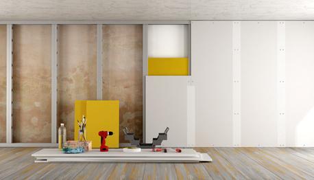 mur chauffant ossature m tallique ou fourrure. Black Bedroom Furniture Sets. Home Design Ideas