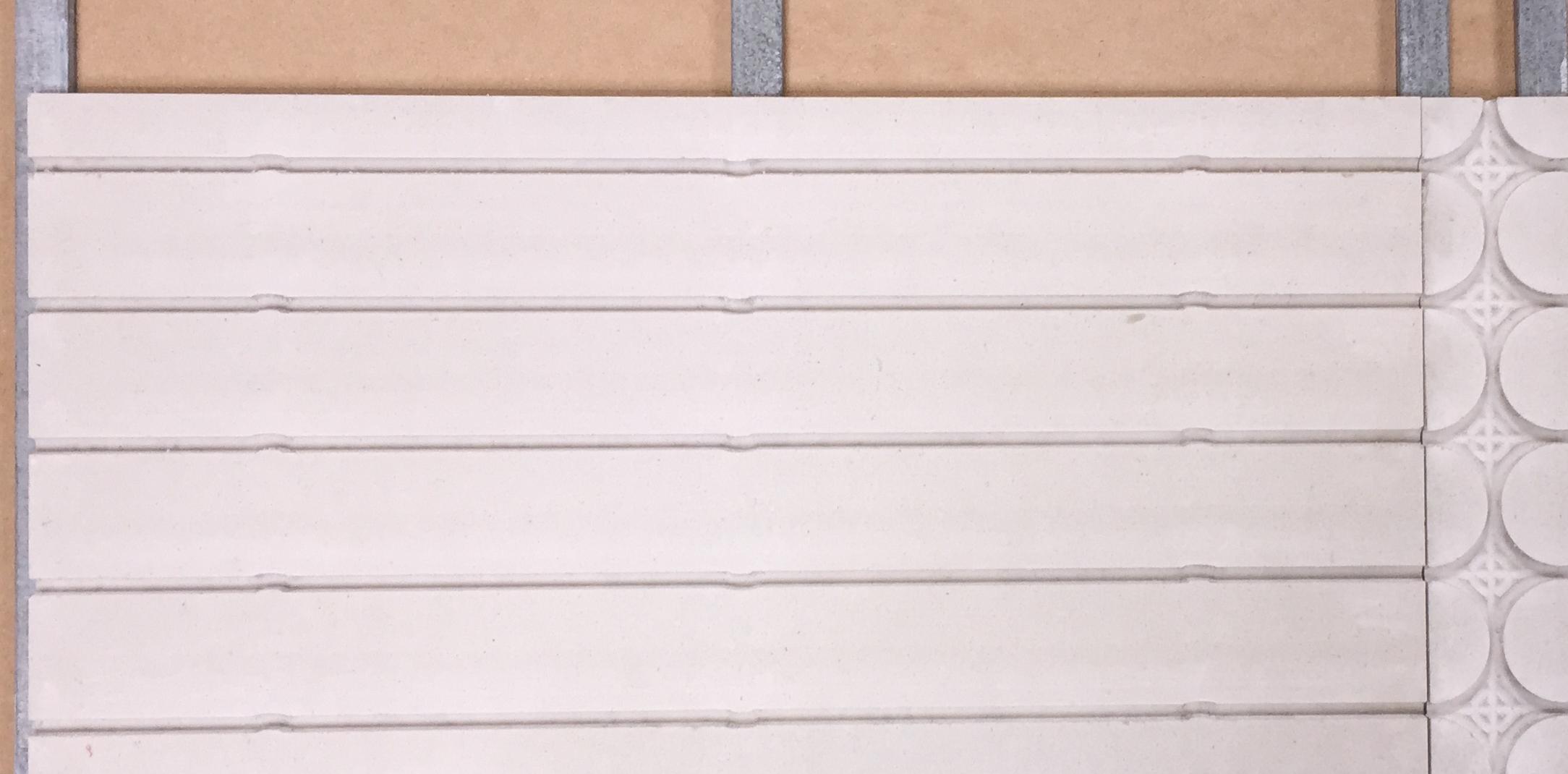 Mur chauffant Caleosol pur Gype sur ossature métallique fourrure pose plaques en horizontal