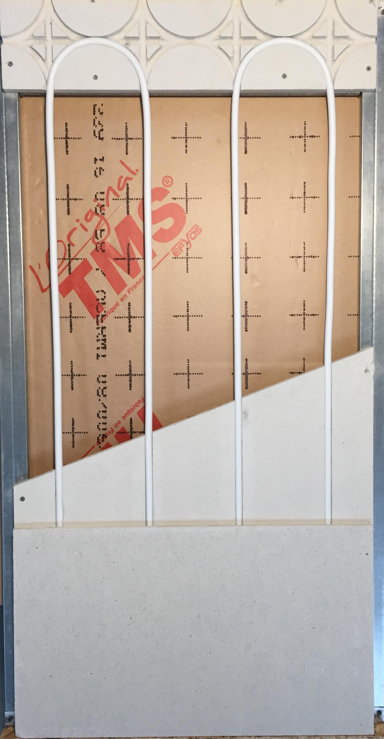 Mur chauffant rénovation à isolation renforcée