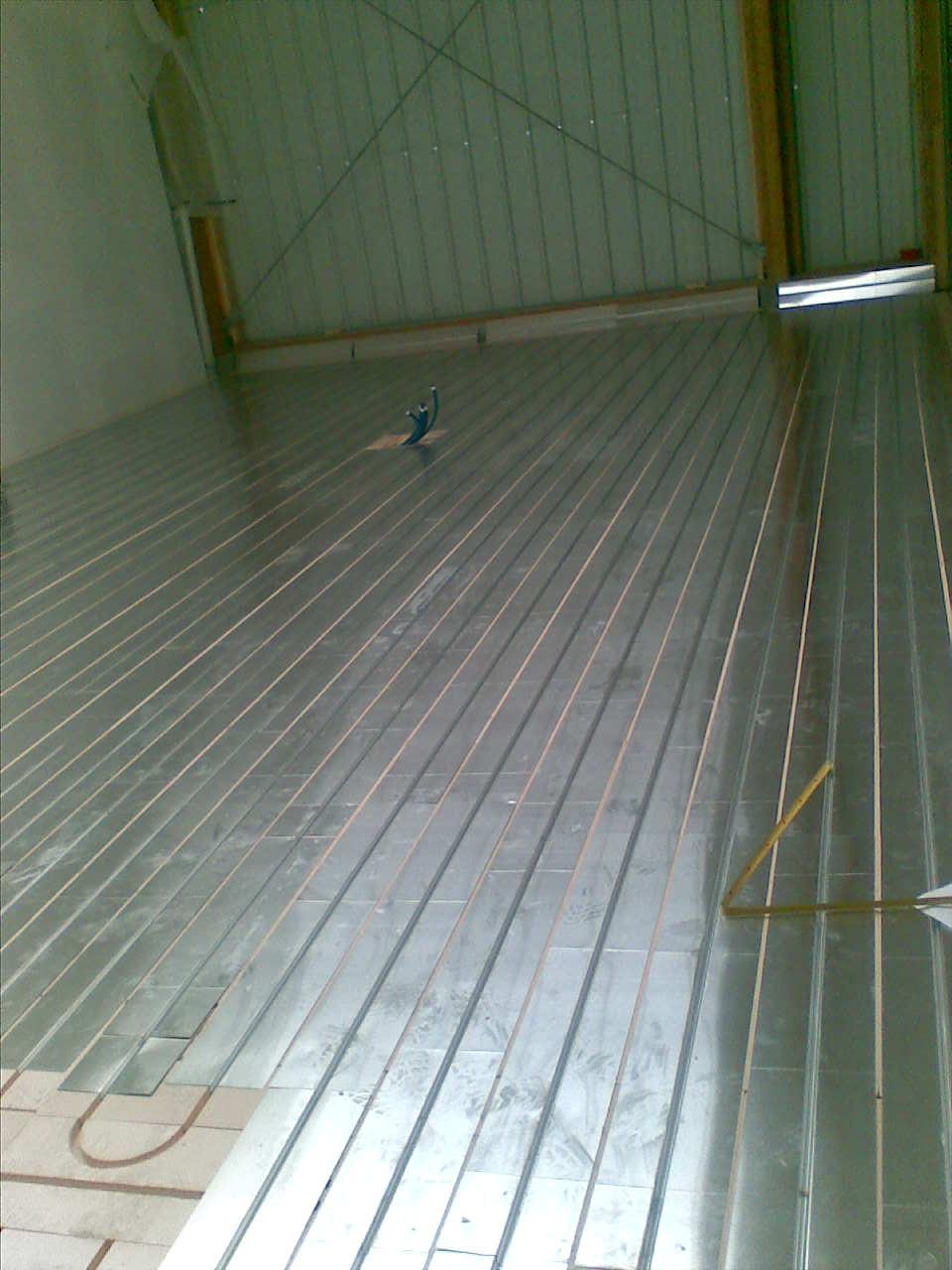Pose plancher chauffant TRADI XPS par SARL Nord Loire Solaire à Châteaubriant et Vay