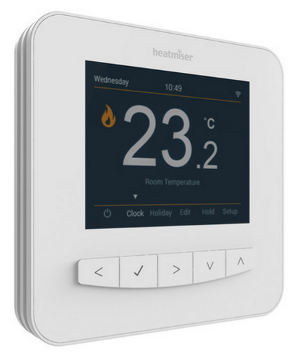 Thermostat Heatmiser SmartStat vue de face