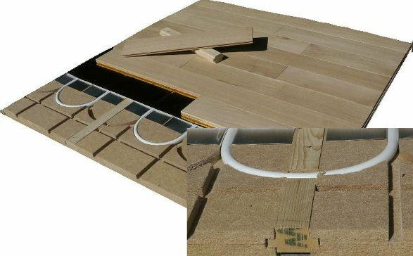 le plancher chauffant Caleosol ECO+ avec lambourdes est entièrement démontable en fin de vie