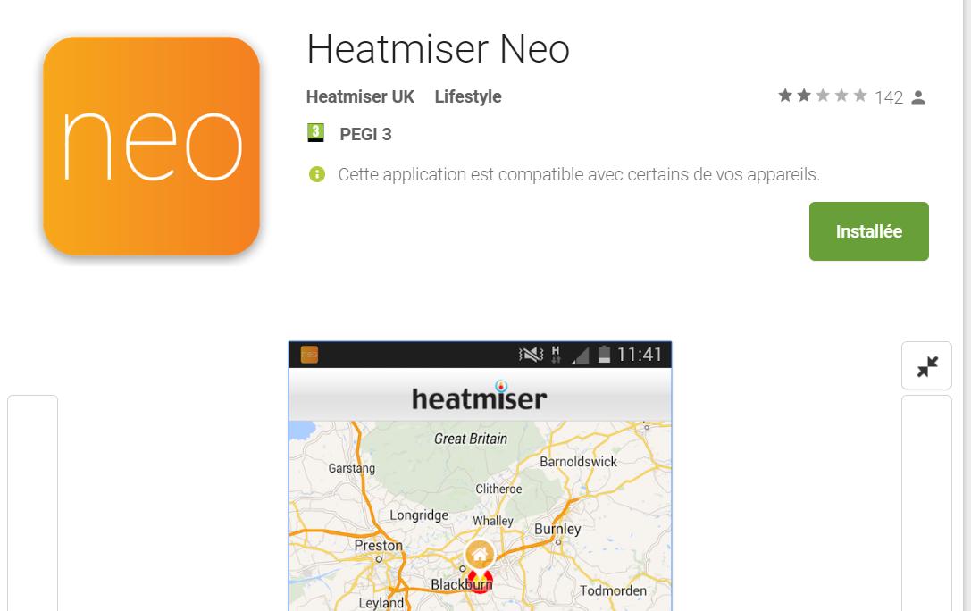 App Thermostat Heatmiser Neo sur google play